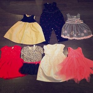 Glam baby girl lot 12-18 month dresses!!